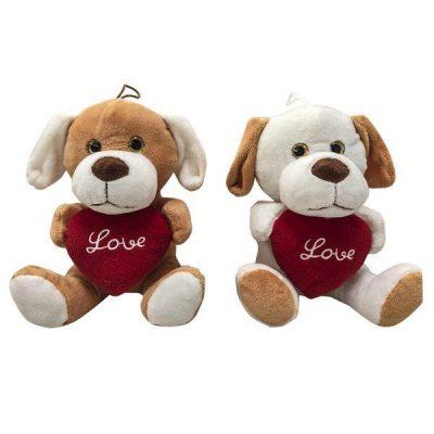 Λούτρινο σκυλάκι αγάπης με καρδούλα - Δώρα Βαλεντίνου
