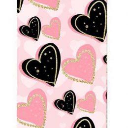 """Σοκολάτα Αγάπης """"Μαύρες & Ροζ καρδιές"""" 100 gr"""