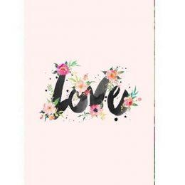 """Σοκολάτα Αγάπης """"Flower Love"""" 100 gr"""