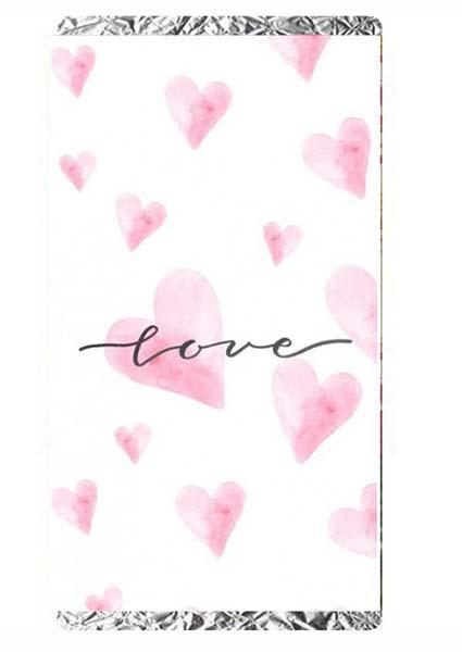 Σοκολάτα Αγάπης ροζ καρδιές