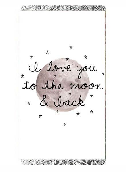 Σοκολάτα Αγάπης To the moon and back