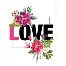 """Σοκολάτα Αγάπης """"Love Floral"""" 100gr"""