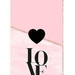 """Σοκολάτα Αγάπης """"Love μαύρο-ροζ"""" 100gr"""