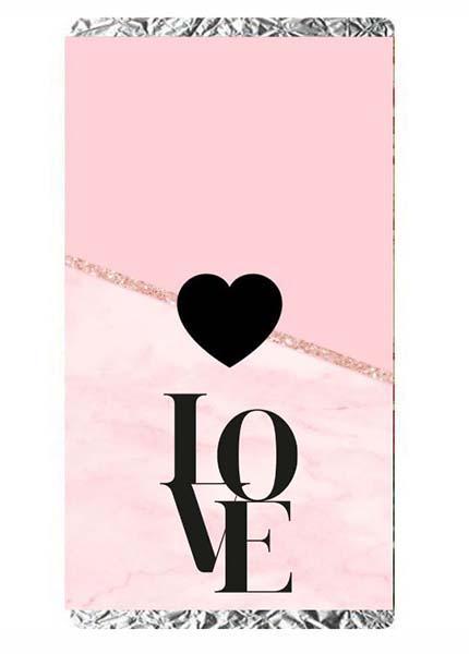 Σοκολάτα Αγάπης Love μαύρο-ροζ