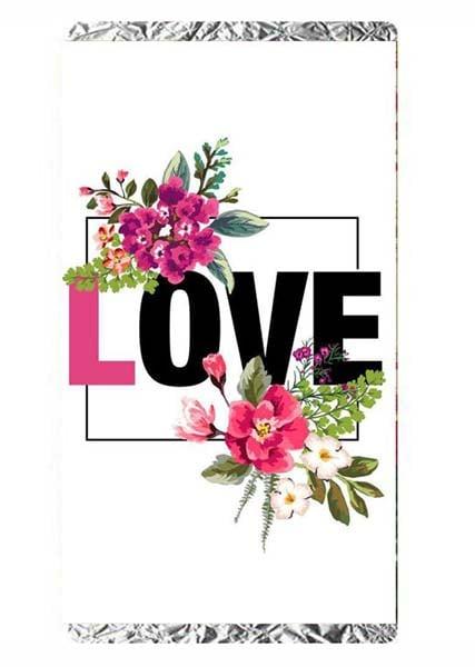 """Σοκολάτα Αγάπης """"I love you"""" με λουλούδια"""