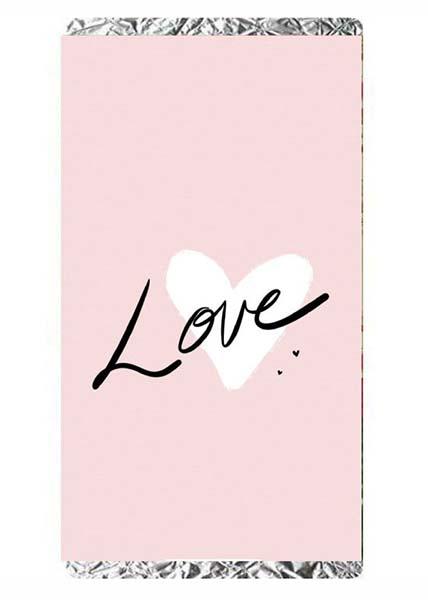 """Σοκολάτα Αγάπης """"Love"""" λευκή καρδιά"""