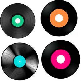 Σουπλά τραπεζιού δίσκοι Disco (4 τμχ)