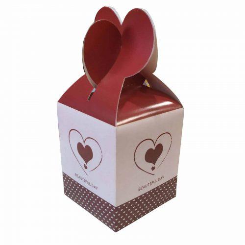 Χάρτινο κουτί Βαλεντίνου με σοκολατίτσες