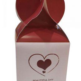 Χάρτινο κουτί Βαλεντίνου με σοκολατίτσες (Σχέδιο 1)