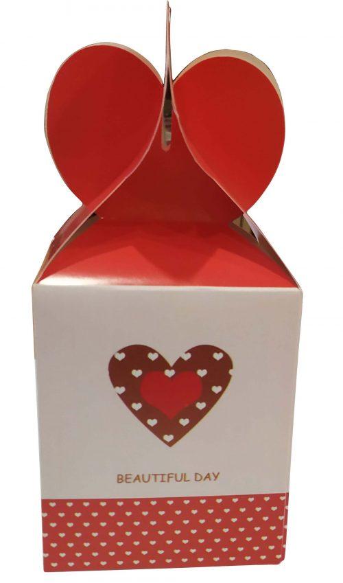 Χάρτινο κουτί Βαλεντίνου με σοκολατίτσες (Σχέδιο 2)