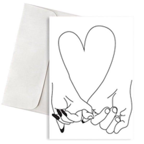 κάρτα αγάπης καρδιά χέρια