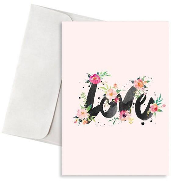 κάρτα αγάπης love με λουλούδια