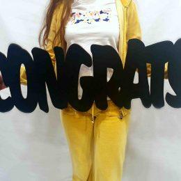Congrats διακοσμητικό Αποφοίτησης