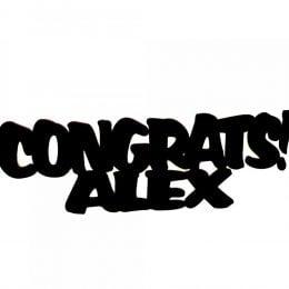 Προσωποποιημένο Congrats Διακοσμητικό Αποφοίτησης