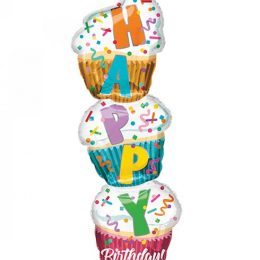"""Μπαλόνι Τούρτα """"Happy Birthday"""" 104 εκ"""