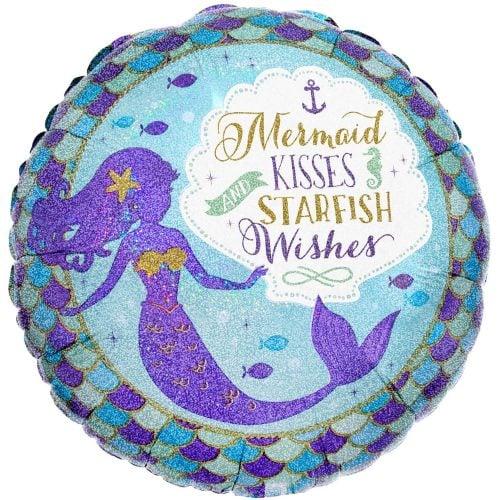 Μπαλόνι Mermaid Wishes & Kisses 45 εκ.