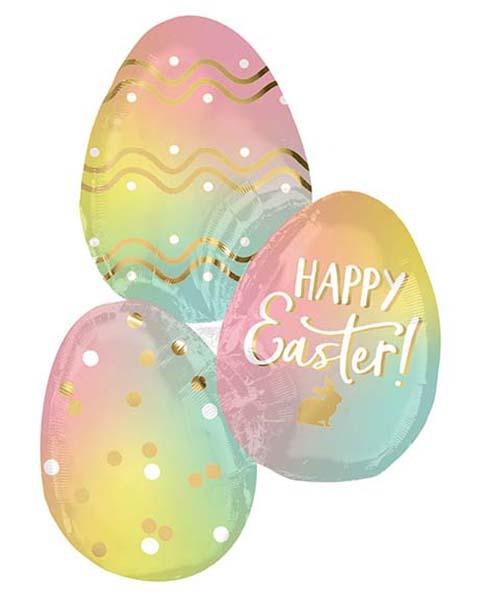 """Μπαλόνι Πασχαλινά αυγά """"Happy Easter"""" 88 εκ"""