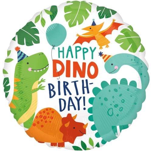 """Μπαλόνι """"Happy dino Birthday δεινόσαυρος"""" 46 εκ"""