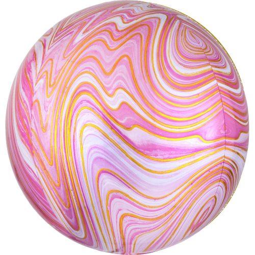 Μπαλόνι ροζ μάρμαρο τρισδιάστατη σφαίρα 40 εκ.