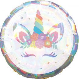 Μπαλόνι ιριδίζον μονόκερος 45 εκ