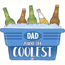 Μπαλόνι Coolest Dad καφάσι με μπύρες 84 εκ.