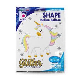 Μπαλόνι Μονόκερος Glitter/Pastel 122 εκ.