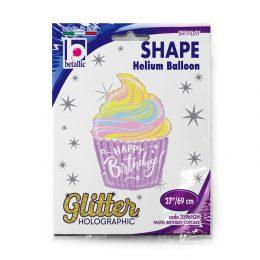 Μπαλόνι Παστέλ Birthday Cupcake 69 εκ