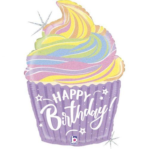Μπαλόνι Παστέλ Birthday Cupcake