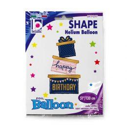 Μπαλόνι τριπλό δώρο γενεθλίων 130 εκ.