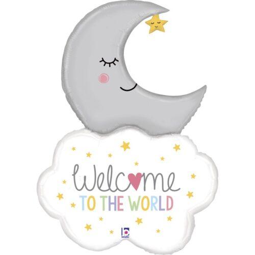 """Μπαλόνι Σύννεφο & Φεγγάρι """"Welcome Baby"""""""