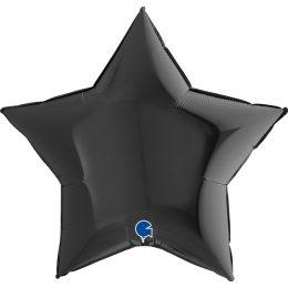 Μπαλόνι μαύρο αστέρι 36″