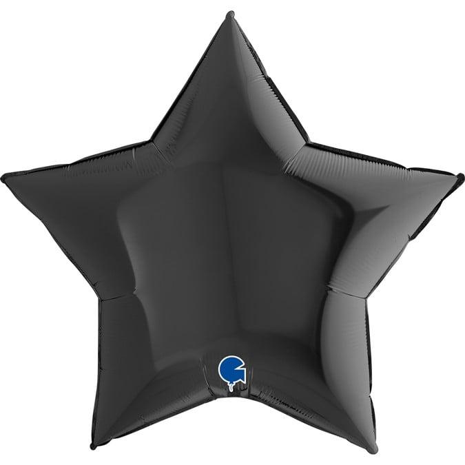 """Μπαλόνι μαύρο αστέρι 36"""""""