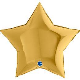 Μπαλόνι χρυσό αστέρι 36″