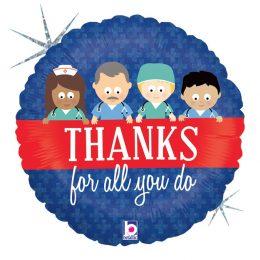 """Μπαλόνι Γιατροί """"Thanks for all you do"""""""