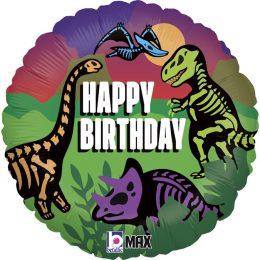 Μπαλόνι Jurassic Birthday δεινόσαυροι 46 εκ.