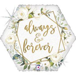 Μπαλόνι Γεωμετρικό 'Αlways & Forever' 46 εκ.