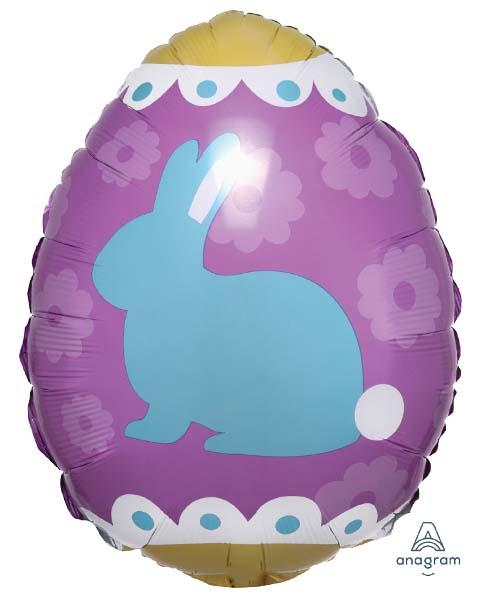 Μπαλόνι Πασχαλινό αυγό κουνελάκια 40 εκ