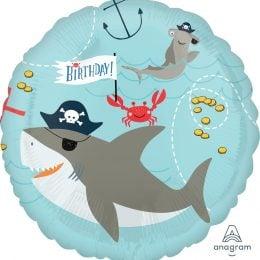 Μπαλόνι Καρχαρίες Birthday 43 εκ.
