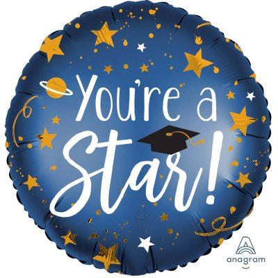 """Μπαλόνι αποφοίτησης """"You're a star"""" 45 εκ"""