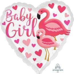 Μπαλόνι Baby Girl Φλαμίνγκο 43εκ.