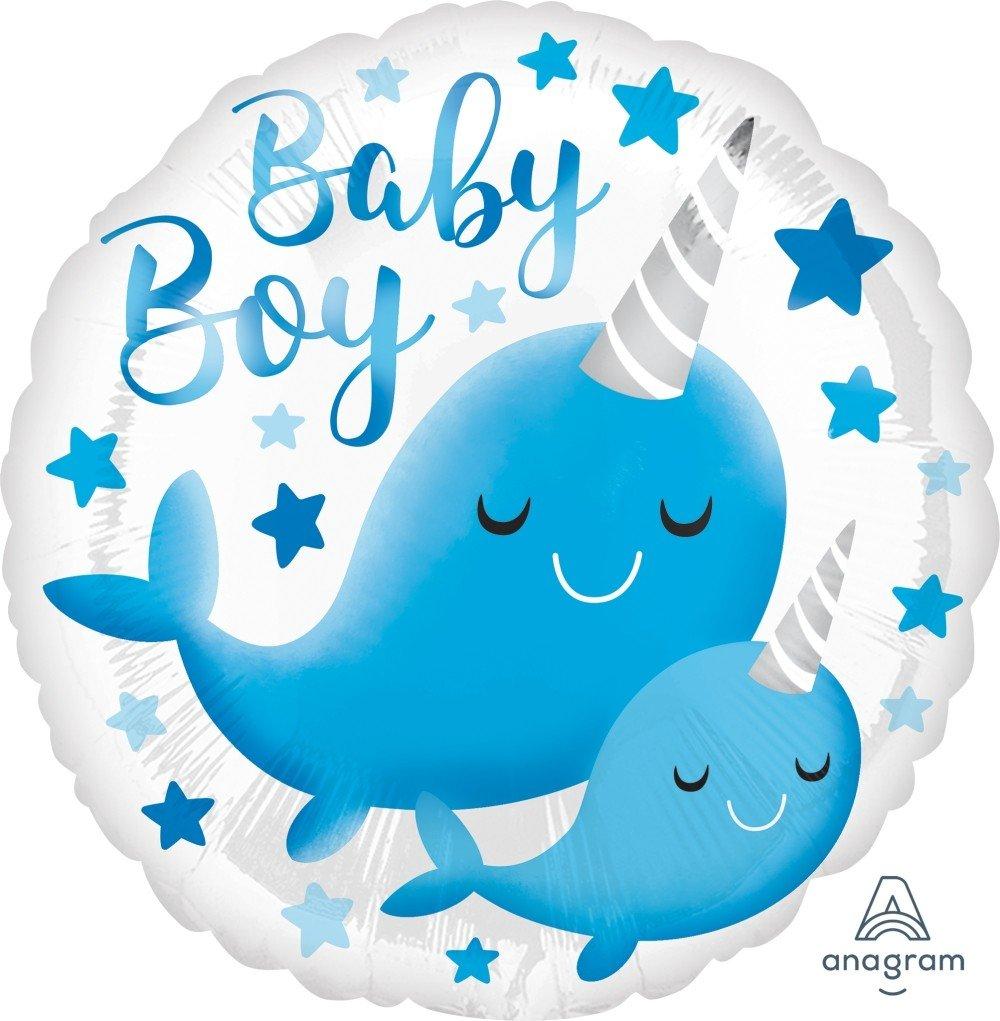 Μπαλόνι Baby Boy Narwhall 43εκ.