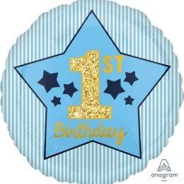 Μπαλόνι 1st Birthday Μπλε & Χρυσό
