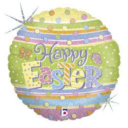 """Μπαλόνι """"Happy Easter"""" πουά"""