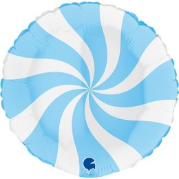 Μπαλόνι Γλειφιτζούρι Άσπρο/Ματ γαλάζιο 46 εκ