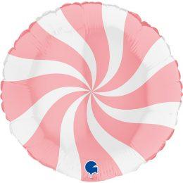 Μπαλόνι Γλειφιτζούρι Άσπρο/Ματ ροζ 46 εκ
