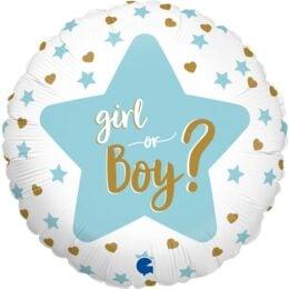 """Μπαλόνι """"Boy or Girl"""" Gender Reveal 46εκ"""