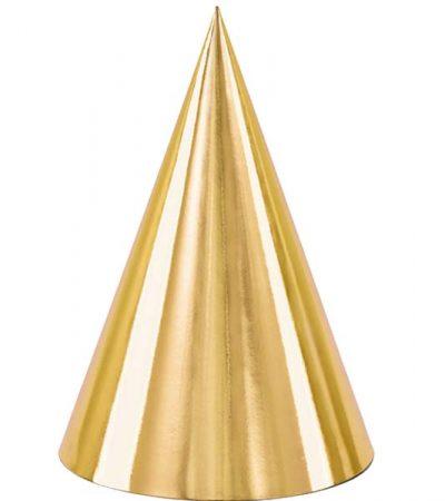 Καπελάκια χάρτινα χρυσά (6 τεμ)