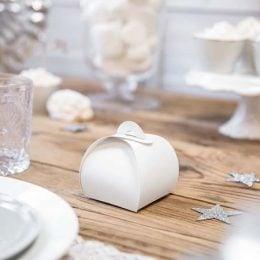 Λευκό κουτάκι για μπομπονιέρα (10 τεμ)