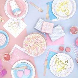Ξύλινο σετ φαγητού ροζ (18 τμχ)