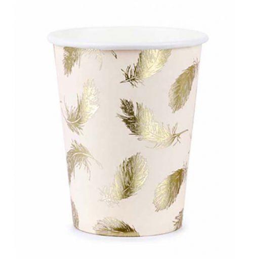 Ποτήρια πάρτυ χάρτινα Κύκνος (6 τεμ)
